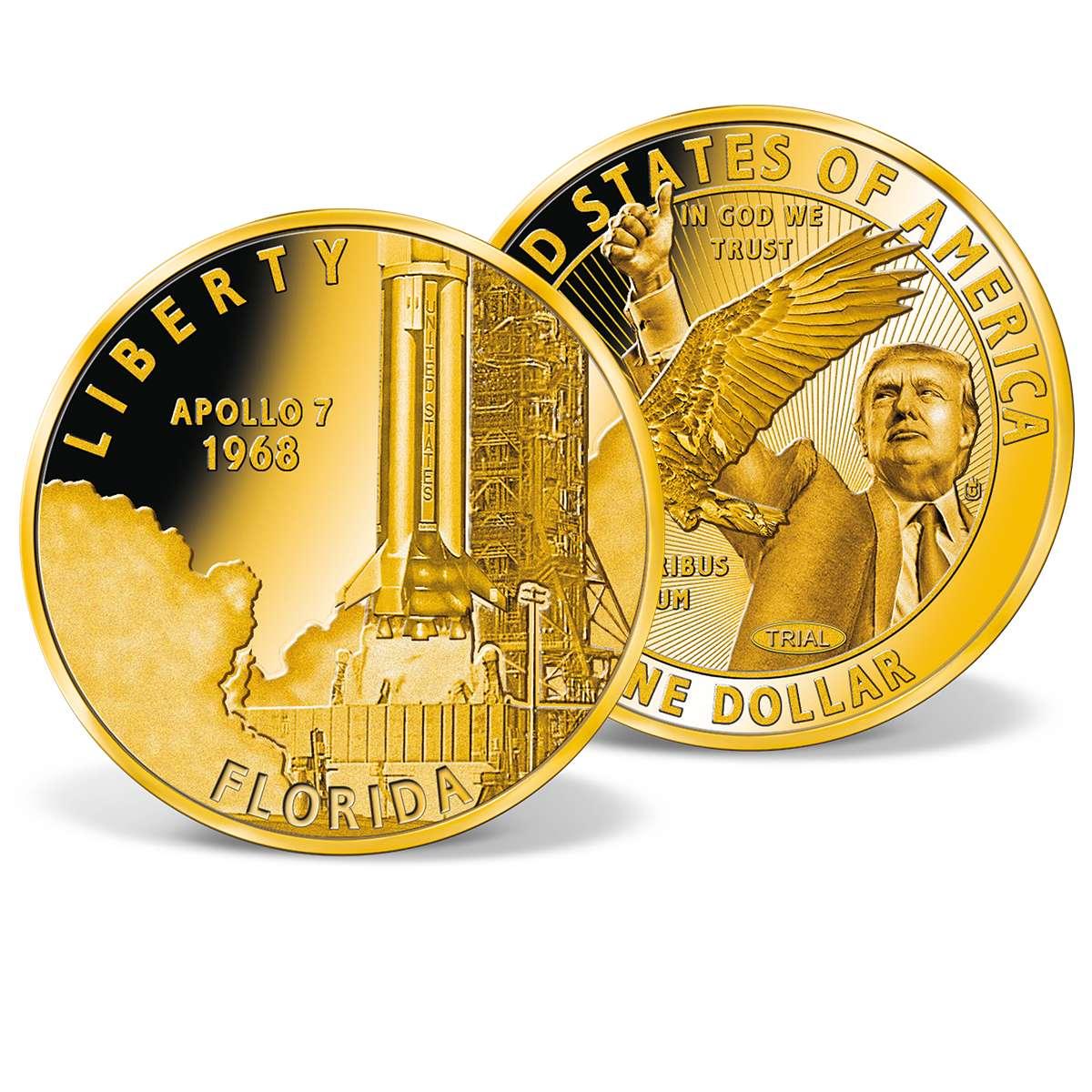 Apollo 7 American Innovations Dollar Trial Gold