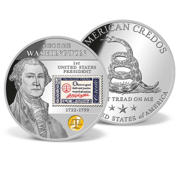 George Washington American Credo Stamp Commemorative Coin US_8230070_1