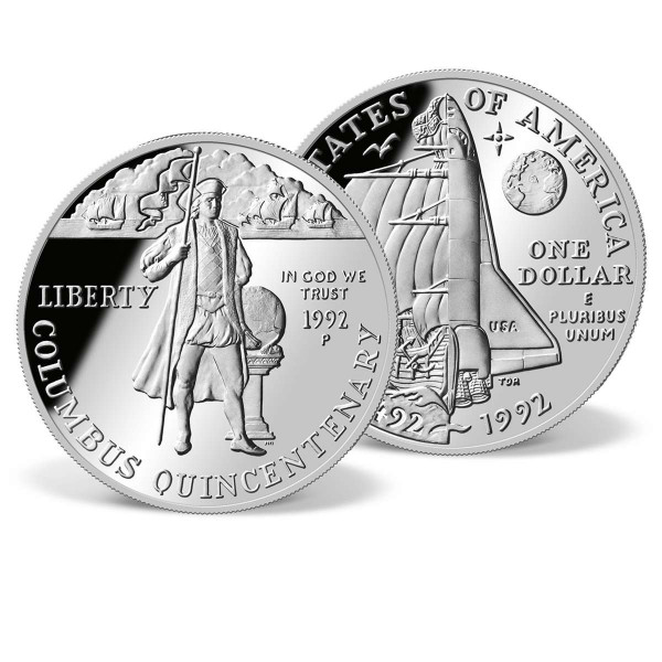 1992 Christopher Columbus Quincentenary Silver Dollar US_2717854_1