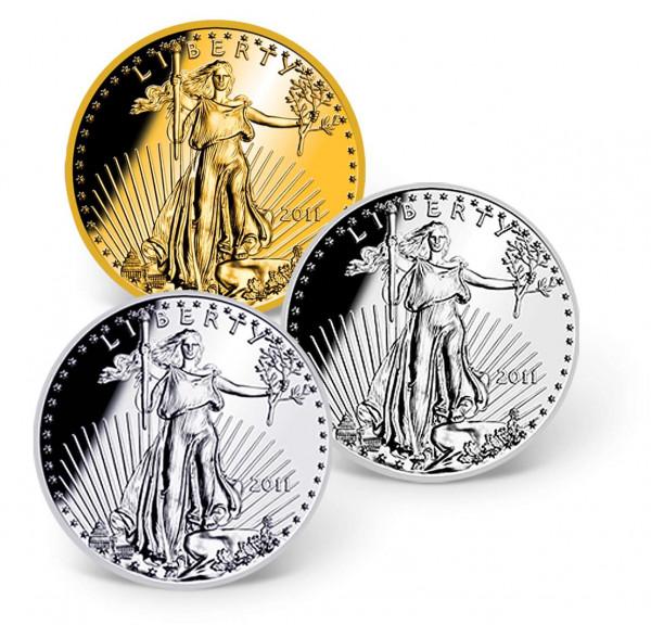 America Eagle Replica Precious Metal Coin Set US_1681279_1