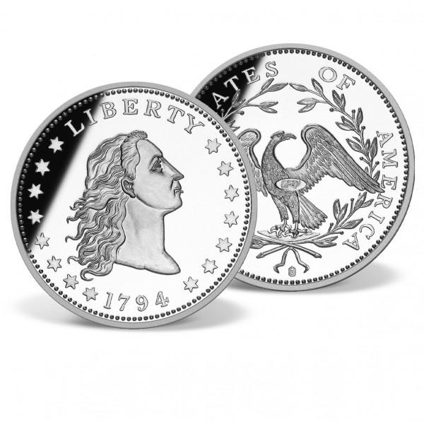 1794 Flowing Hair Silver Dollar Replica US_8201953_1
