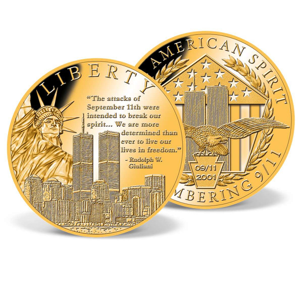 Liberty Remembering 9/11 Commemorative Gold Coin US_9859320_1