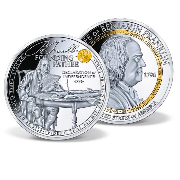 Ben Franklin - Founding Father Commemorative Coin