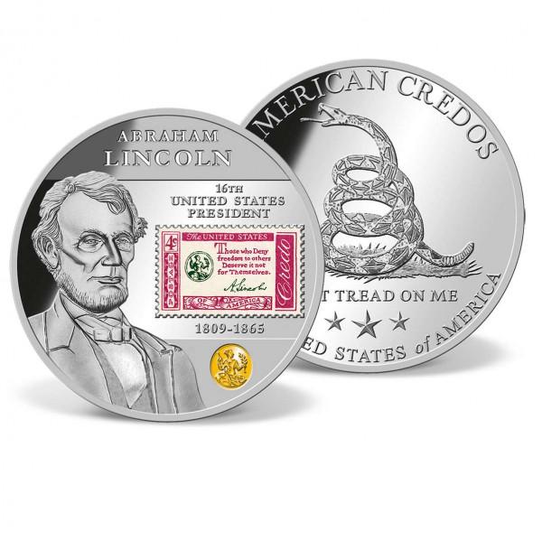Abraham Lincoln Credo Stamp Commemorative Coin US_8230072_1