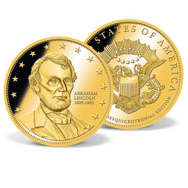 Abraham Lincoln Commemorative Gold Coin US_2160361_1