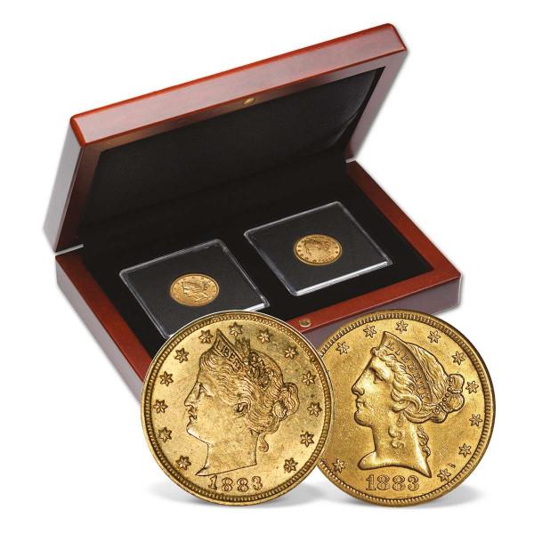 1883 Liberty Head Half Eagle & Racketeer Nickel Set US_2710690_1