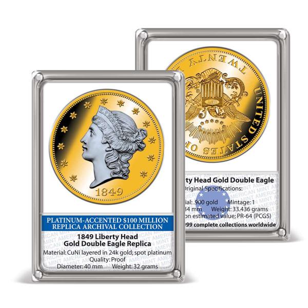 Commemorative strike '1849 Liberty Head Double Eagle' US_8201386_1