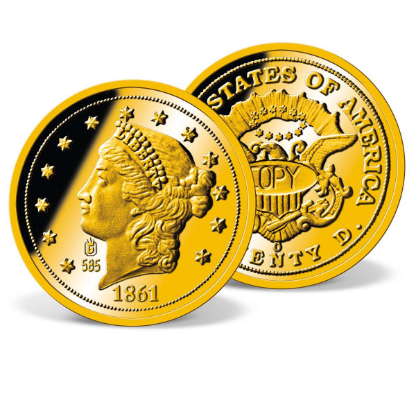 1861 Gold Double Eagle Solid Gold Replica US_9322200_1