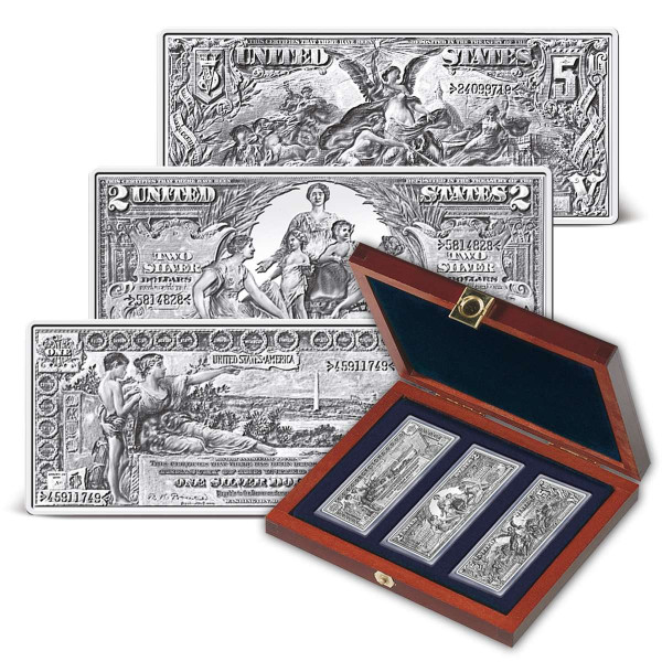 1896 Educational Series Silver Certificates Silver Ingot Set US_9171381_1