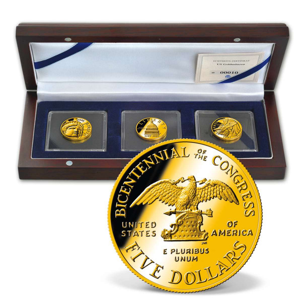 Birth of America - U.S. $5 Gold Coin Set US_2711079_1