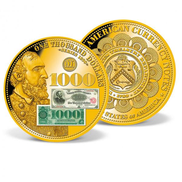 1890 $1,000 Grand Watermelon Note Commemorative Coin Tribute US_8220202_1