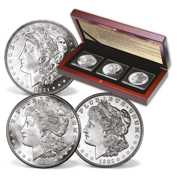 1921 Morgan Silver Dollar Mint Mark Set US_2719650_1