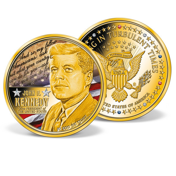 John F. Kennedy - Leading in Turbulent Times Colossal Commemorative Coin US_9442451_1
