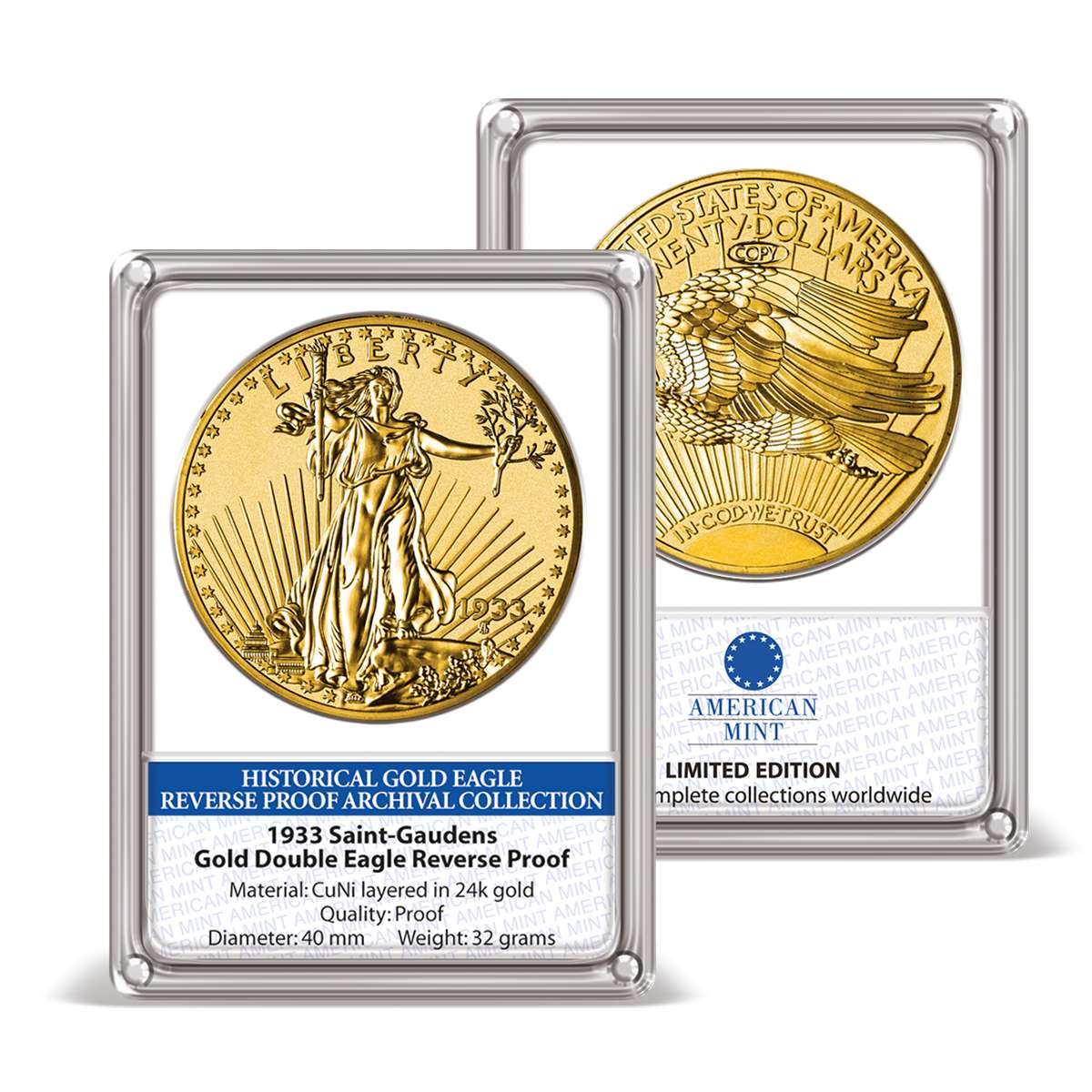 1933 Gold Double Eagle Reverse Proof Archival Edition