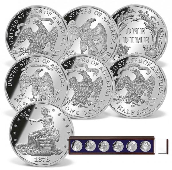 Carson City Mint Silver Coin Replica Set US_9172387_1