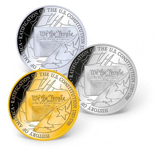 U.S. Constitution Precious Metal Coin Set US_8201297_1