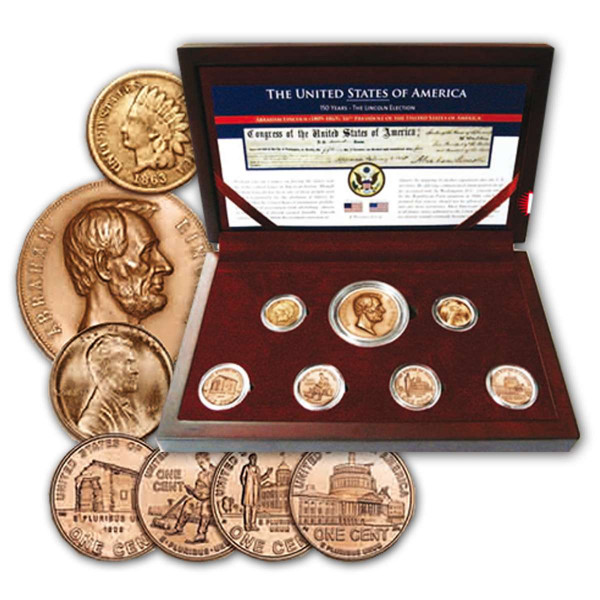 Abraham Lincoln Boxed Coin Set US_2501041_1