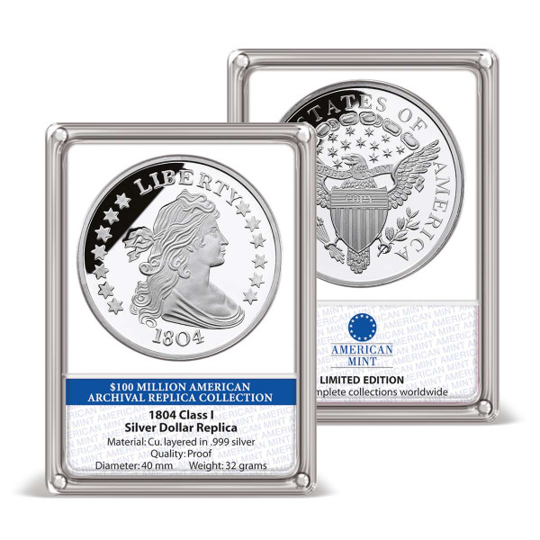 1804 Class I Silver Dollar Replica Archival Edition US_8201900_1