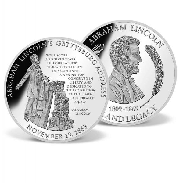 Lincoln's Gettysburg Address Commemorative Coin US_9170580_1