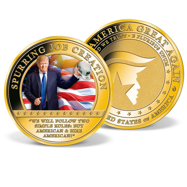 Donald Trump - Spurring  Job Creation Commemorative Coin US_9442401_1