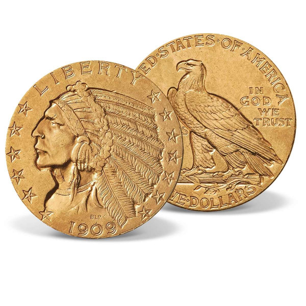 1908-1929 Indian Head Half Eagle Gold Coin US_2530132_1