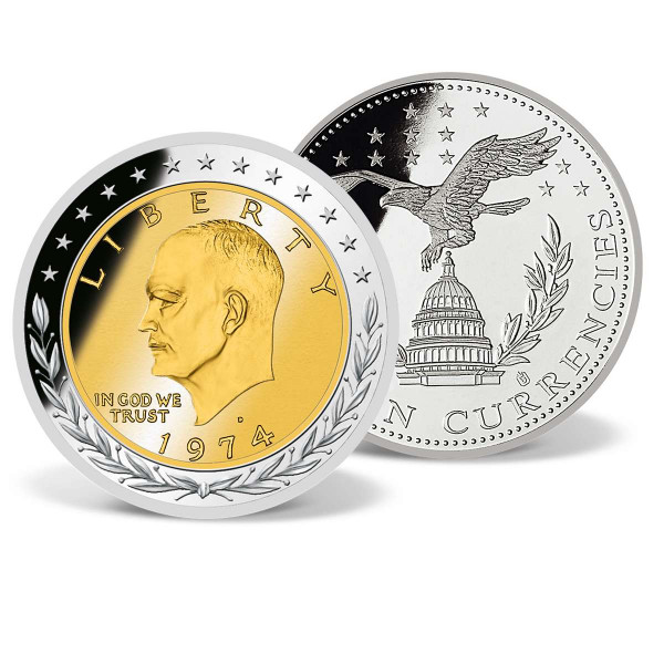 $1 Eisenhower Commemorative Inlay Coin US_9171240_1