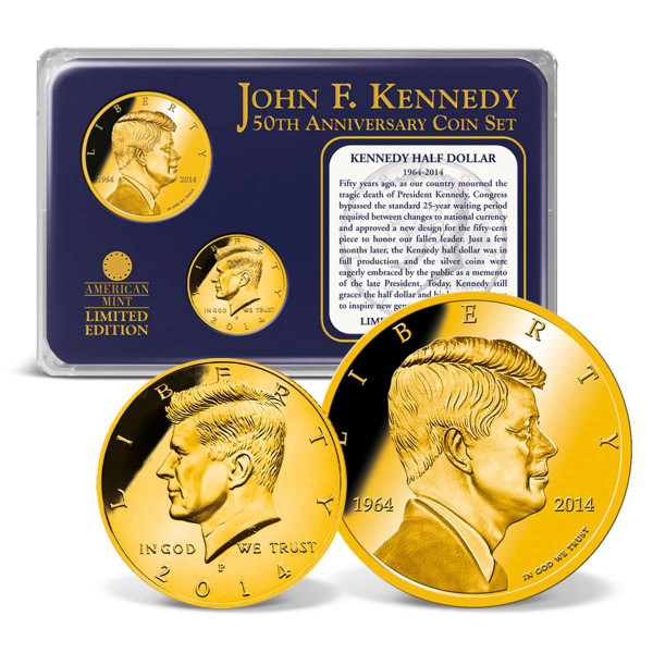Kennedy Half Dollar 50th Anniversary Coin Set US_9175470_1