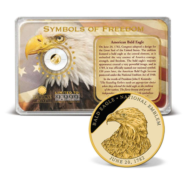 Bald Eagle Commemorative Gold Coin Tribute US_2160623_1