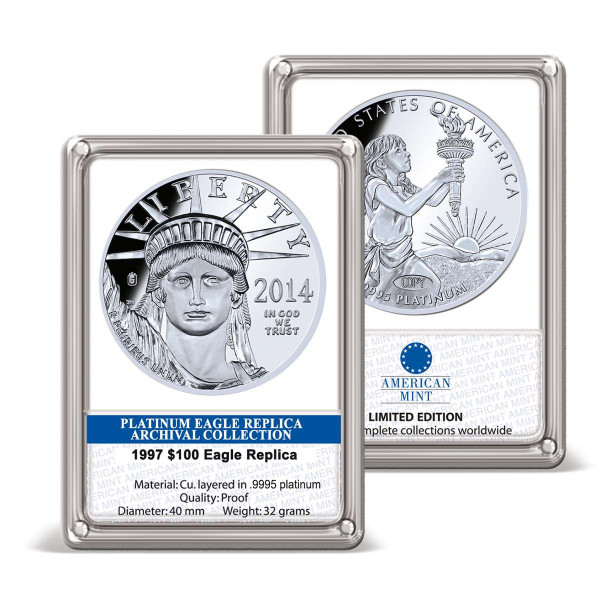 2014 $100 Platinum Eagle Replica Archival Edition US_9175751_1
