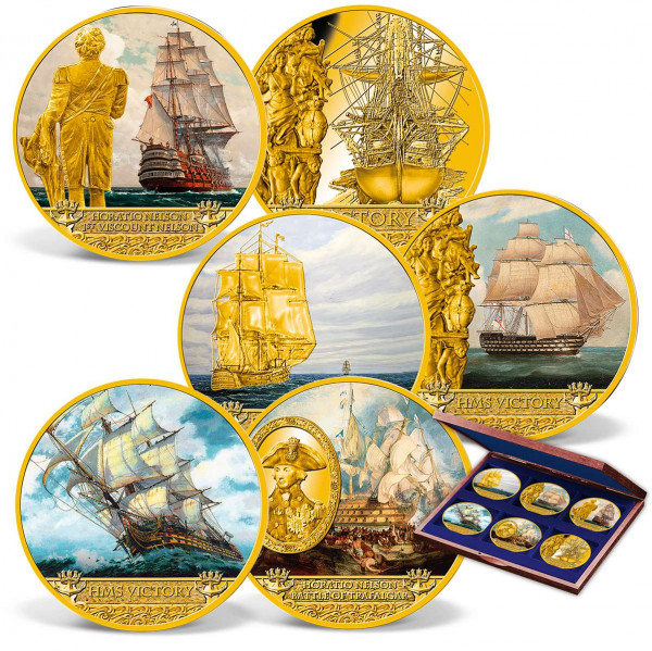 The complete 6-coin 250th Anniversary HMS Victory Set US_1962211_1