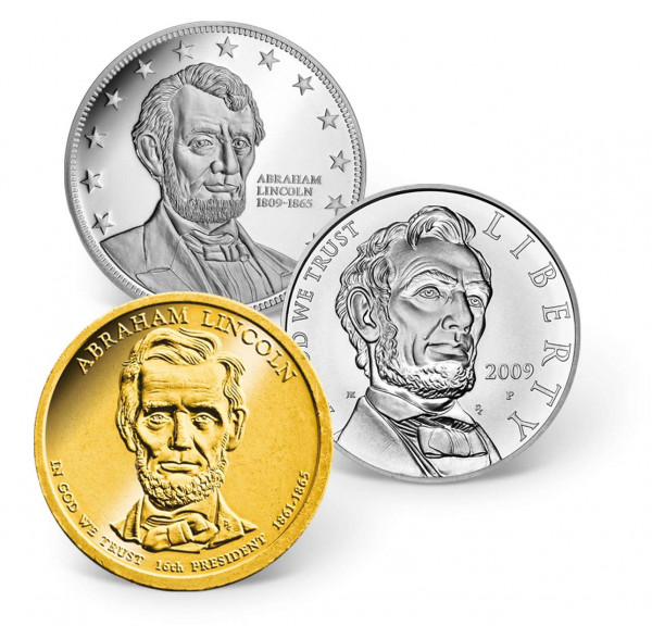 Abraham Lincoln Precious Metal Coin Set US_9442110_1