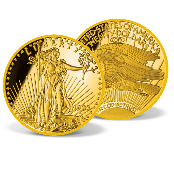Jumbo 1933 Gold Double Eagle Replica Coin US_8201700_1