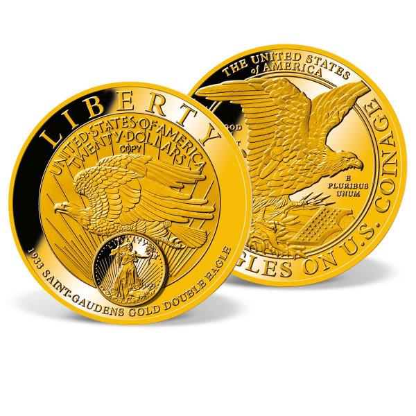 1933 Saint-Gaudens Gold Double Eagle Colossal Commemorative Coin US_1710901_1