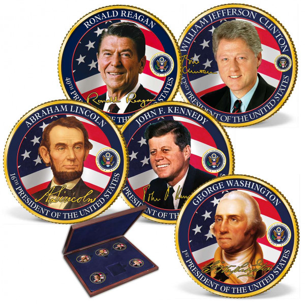 Greatest U.S. Presidents Commemorative Color Half Dollar Set US_2531338_1