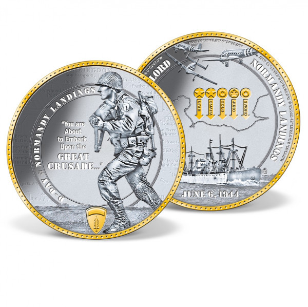 D-Day Normandy Landings Commemorative Coin US_8202551_1