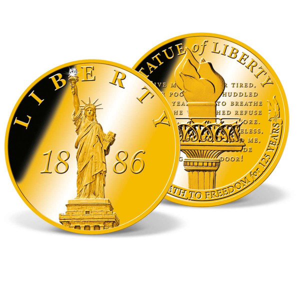 Statue of Liberty 1886 Crystal Inlay Commemorative Coin US_9172580_4