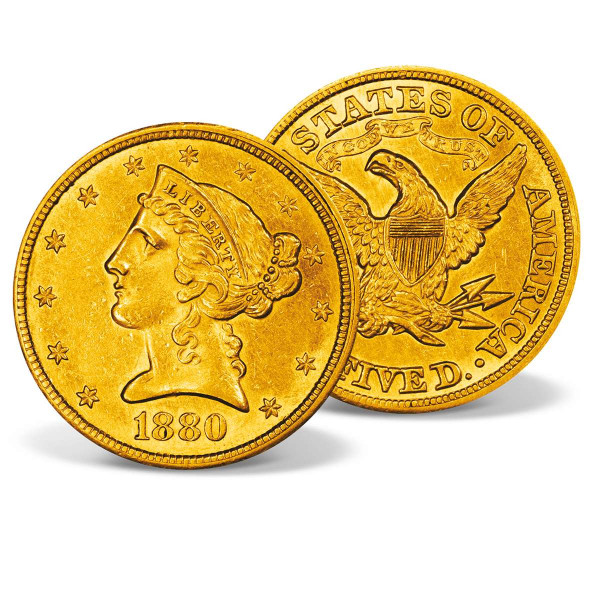 1880 $5 Liberty Half Eagle Gold Coin US_2711379_1