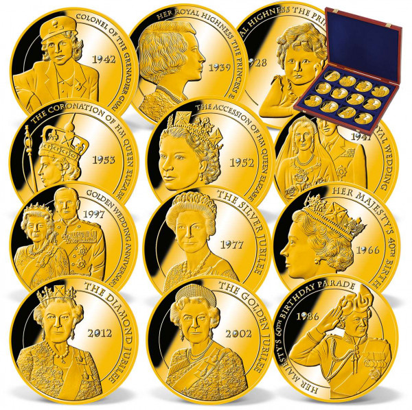 The complete Portraits of a Queen Commemorative Coin Set US_9172627_1