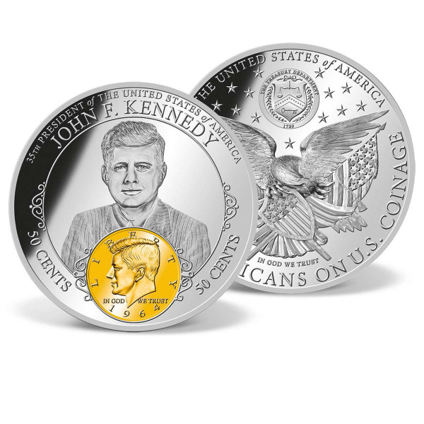 John F. Kennedy Half Dollar Commemorative Coin US_9172923_1