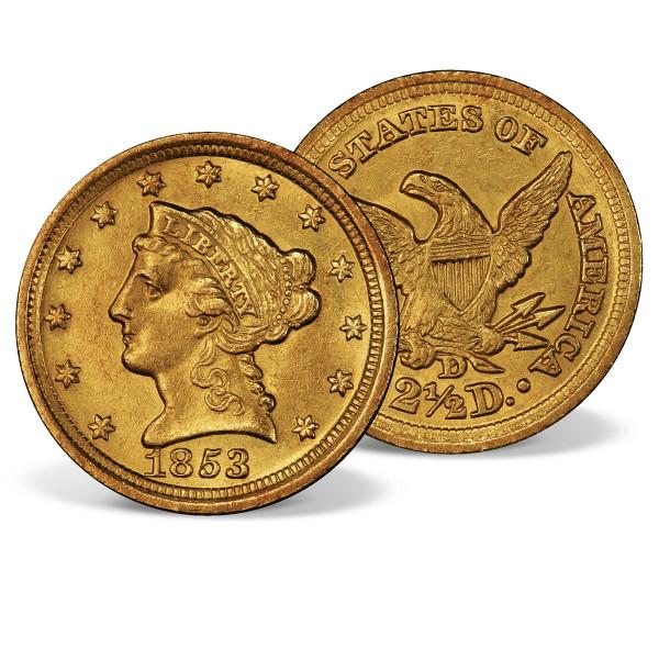 1853 Gold Coronet Liberty Head Quarter Eagle US_2717964_1
