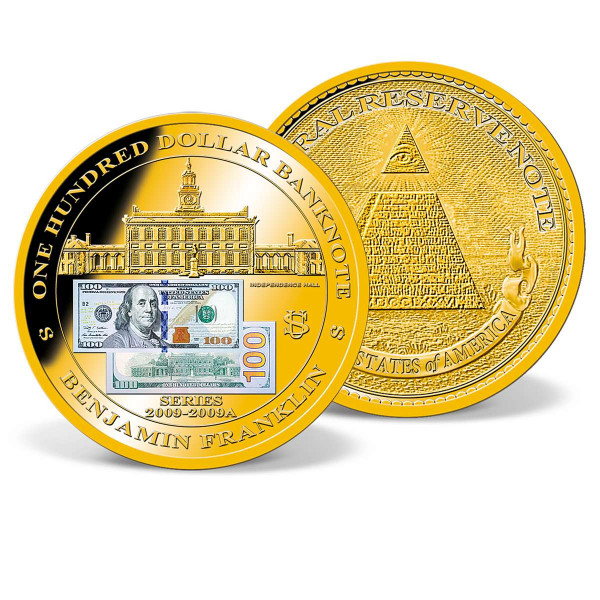 One-Hundred-Dollar Banknote Commemorative Coin US_9184911_1