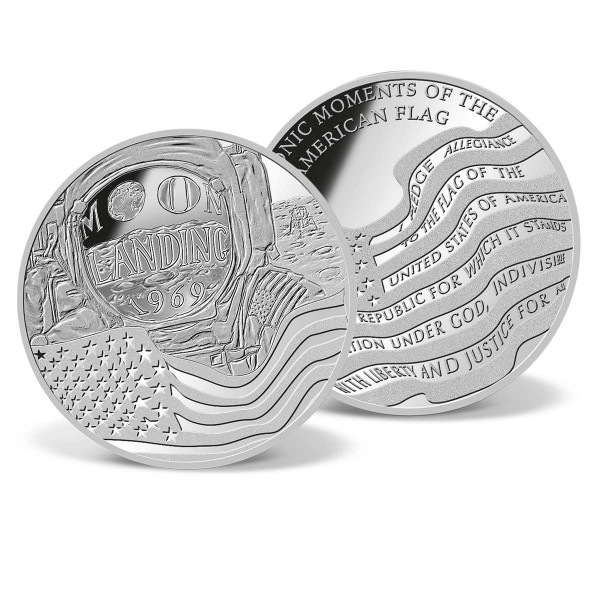 American Flag - Moon Landing Commemorative Coin US_9172831_1