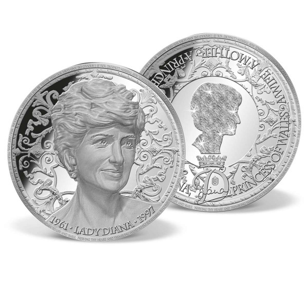 Lady Diana Solid Silver Commemorative Coin US_9442130_1