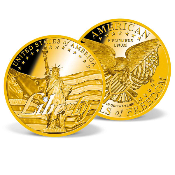 The Liberty - Symbols of Freedom Crystal Inlay Commemorative Coin US_1711921_1