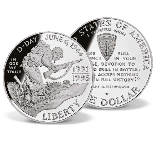 World War II - D-day 50th Anniversary Silver Dollar US_2715870_1