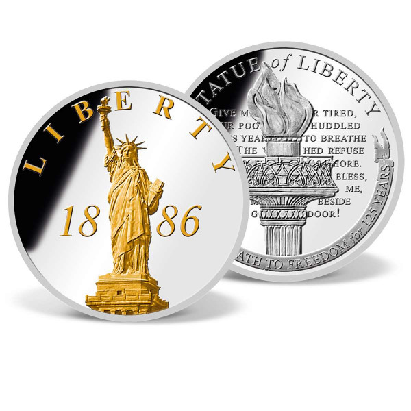 Statue of Liberty 1886 Commemorative Gold-Accented Coin US_9172512_1