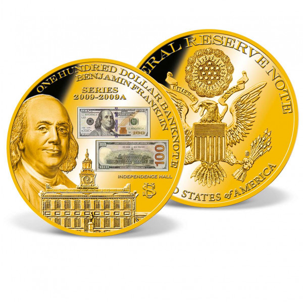 Colossal One-Hundred-Dollar Banknote Commemorative Coin US_9184971_1