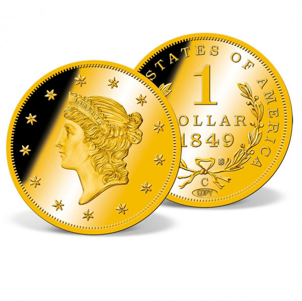 1849-C Gold Liberty Head Dollar Replica Coin US_8300600_4