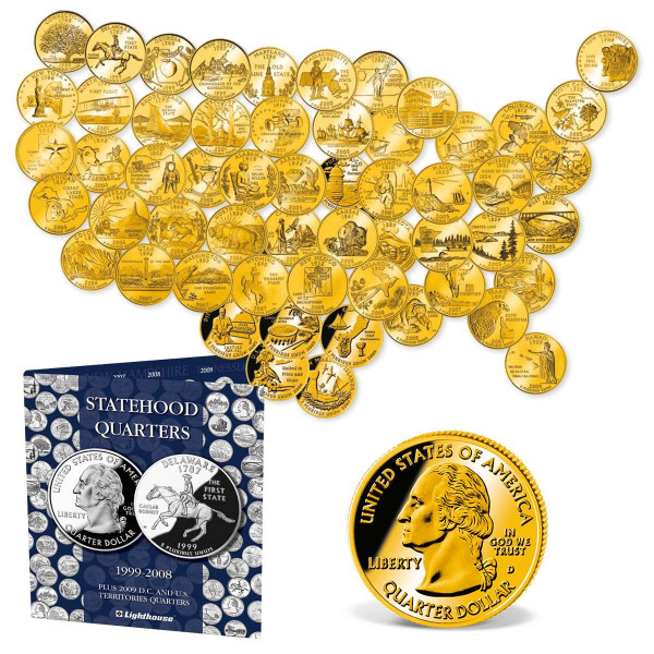 Gold-Layered State Quarters Set US_2542196_1