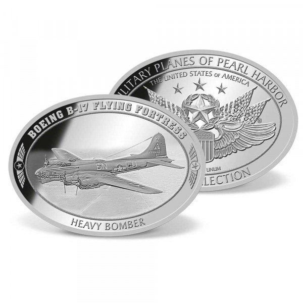 Boeing B-17 Flying Fortress Oval-shaped Commemorative Coin US_1953151_1